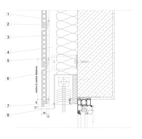Technical drawing Argeton Lintel design with sunprotection